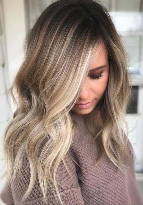 Angel Balayage Hairstyle