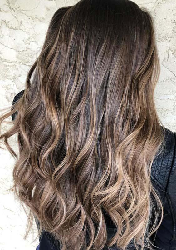 Chocolate Brown Balayage Hairstyle