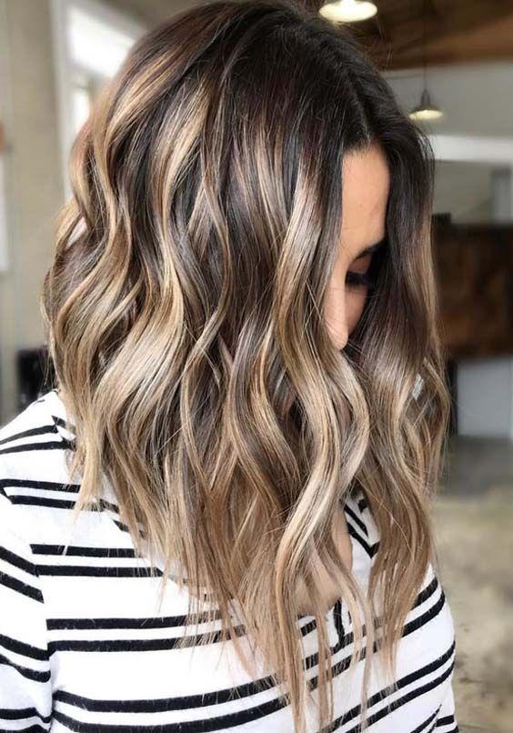Curly Balayage Hairstyle