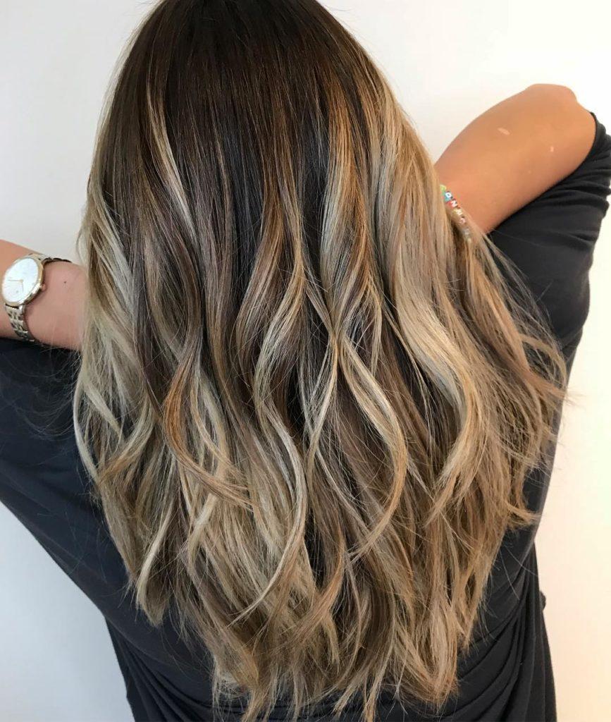 Layered Balayage Hairstyle