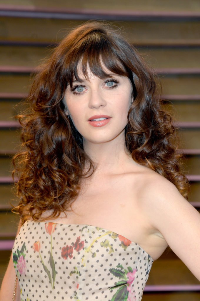 Curly Hairstyle with Bangs