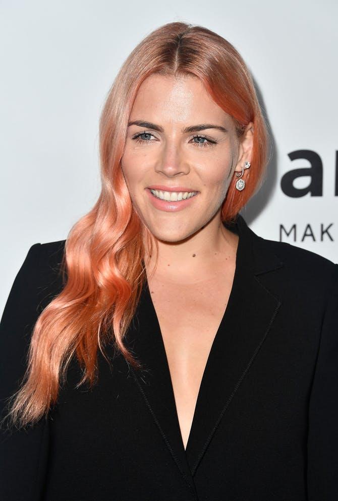 Millennial Pink Wavy Hair