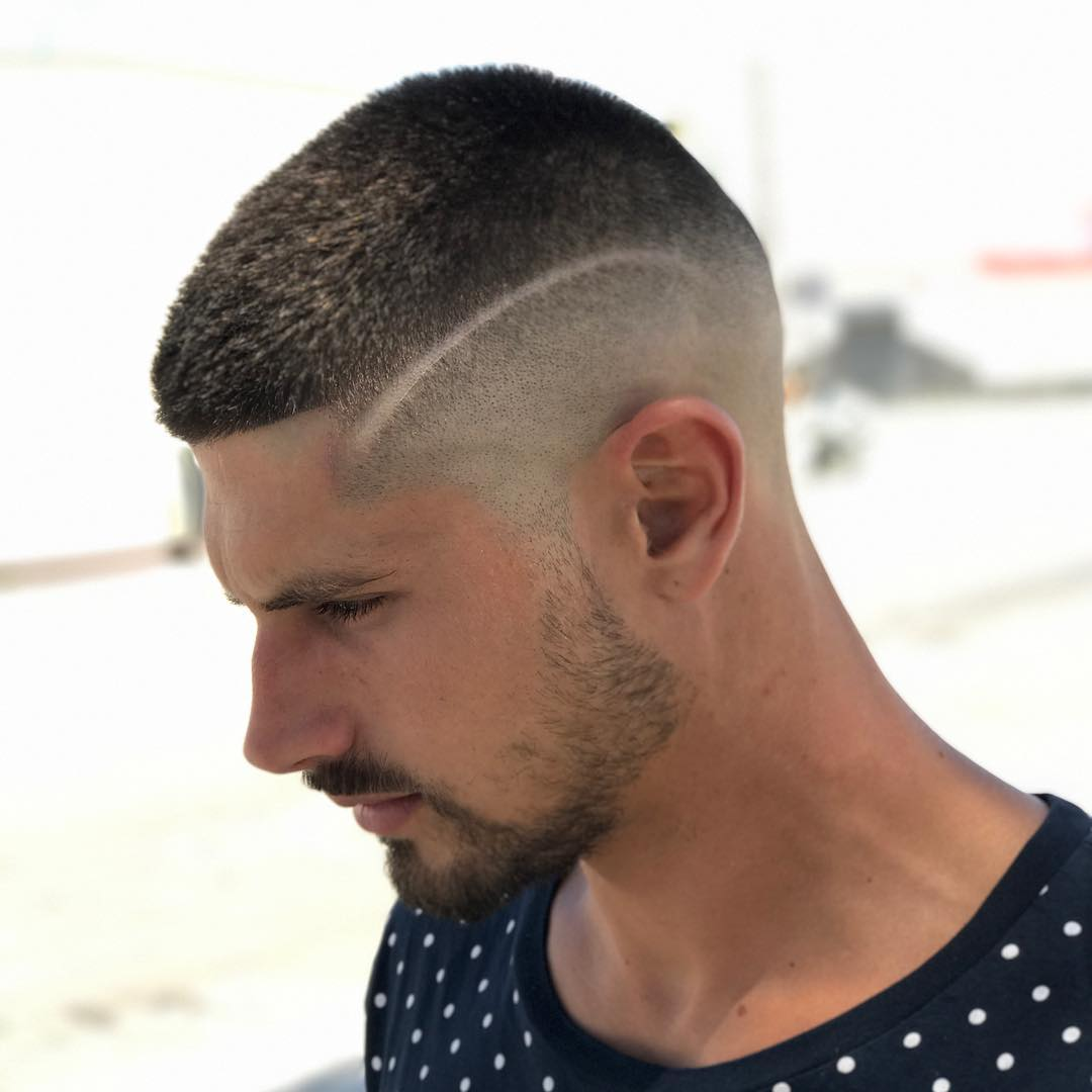 31. Buzz Cut with Lines