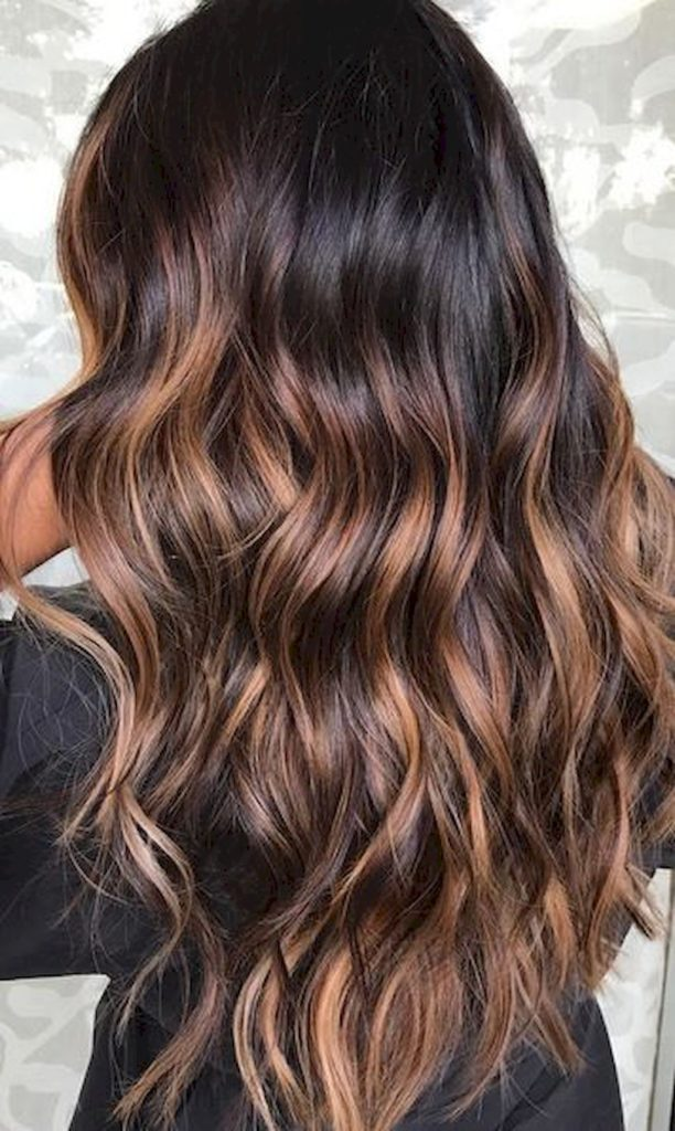 Brown Balayage Wavy Hairstyle