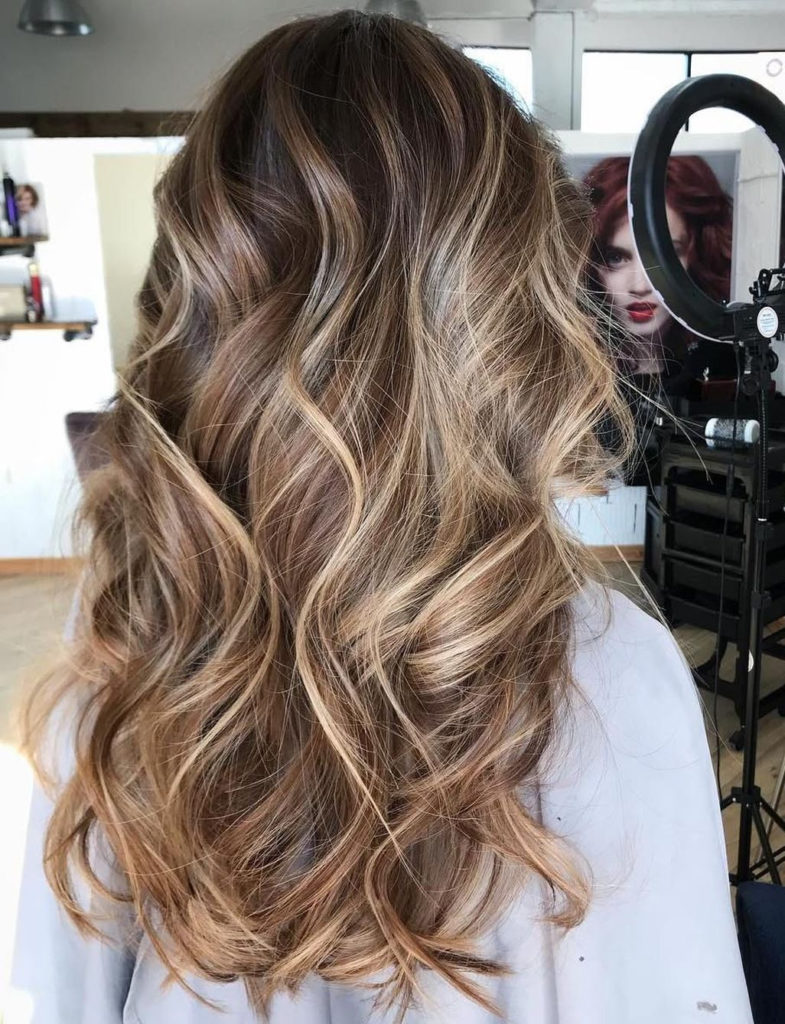 Milk Chocolate balayage with Blonde Babylights