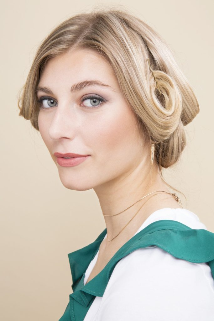 15. Blown Out Pinned Curls