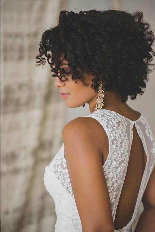 19. Wedding Hairstyle with Curls