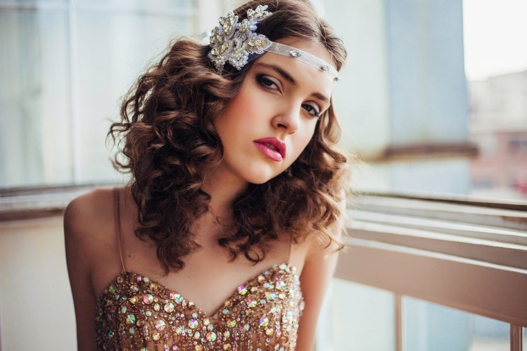 Curly Hairstyle with Headband