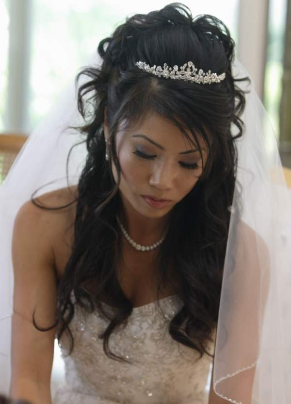 6. Wedding Hairstyle with Crown