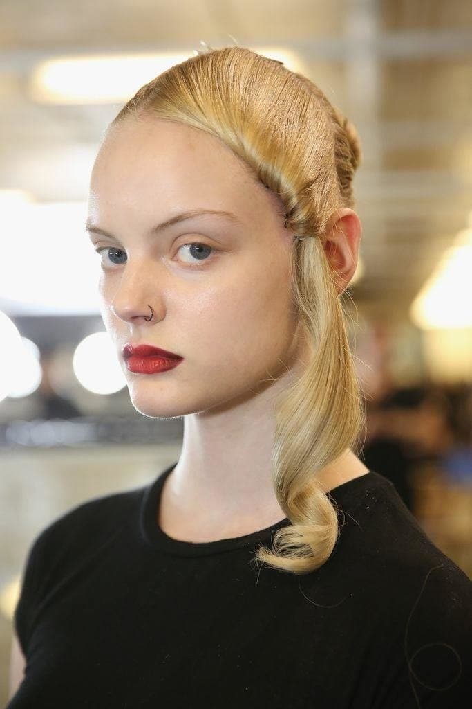 7. Side Twisted Ponytail