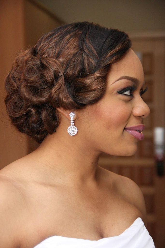 9. Updo Wedding Hairstyle