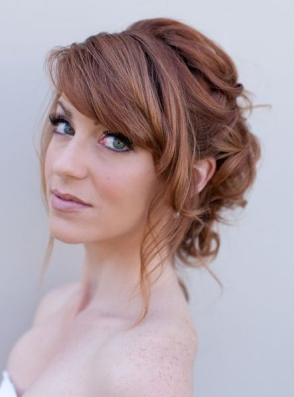 21 Most Beautiful Wedding Hairstyles With Bangs Haircuts Hairstyles 2020