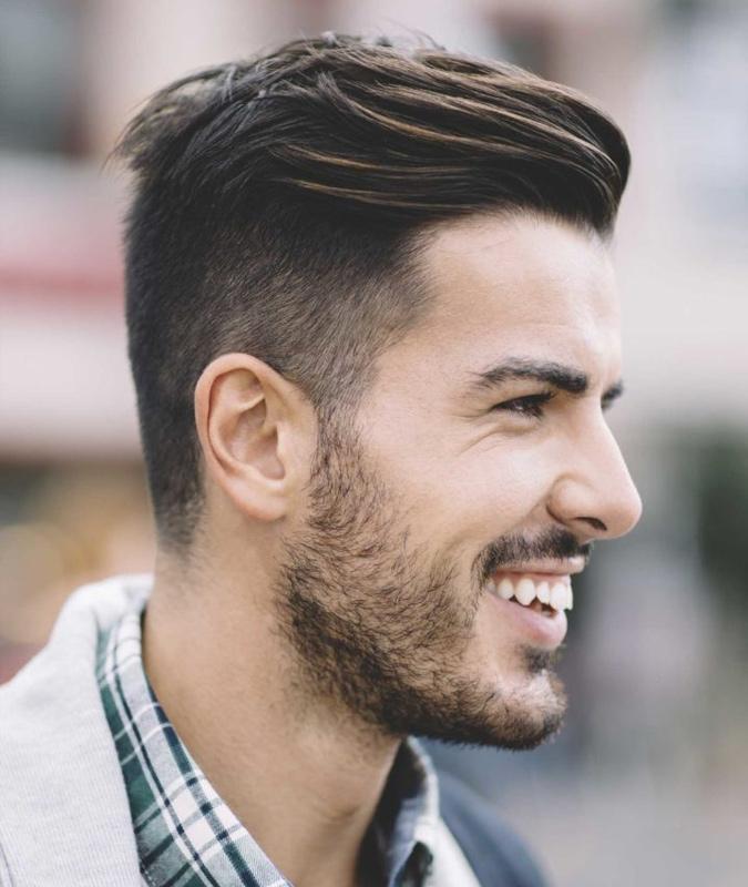 Sleek Combed Back Hair