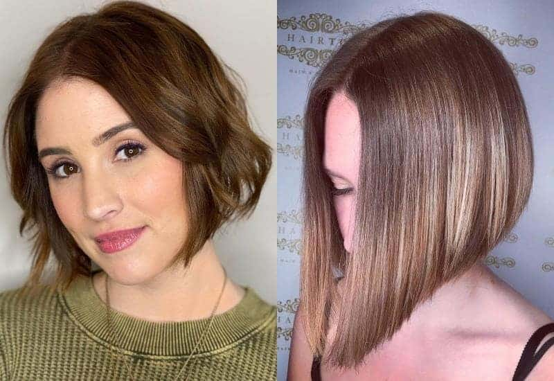 Centre Parting On Angled Bob