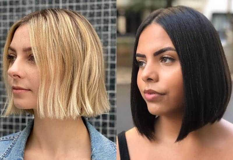 Blunt Bob with Middle Part