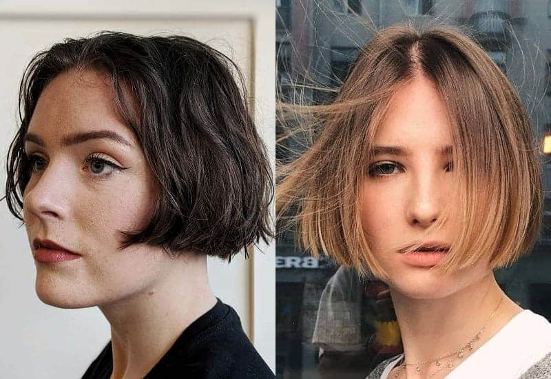 Short Middle Part Bob Hairstyle