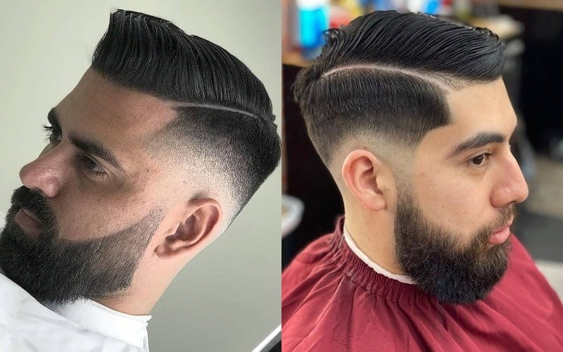 Low Bald Fade with Part