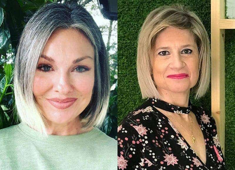 blunt bob for over 50