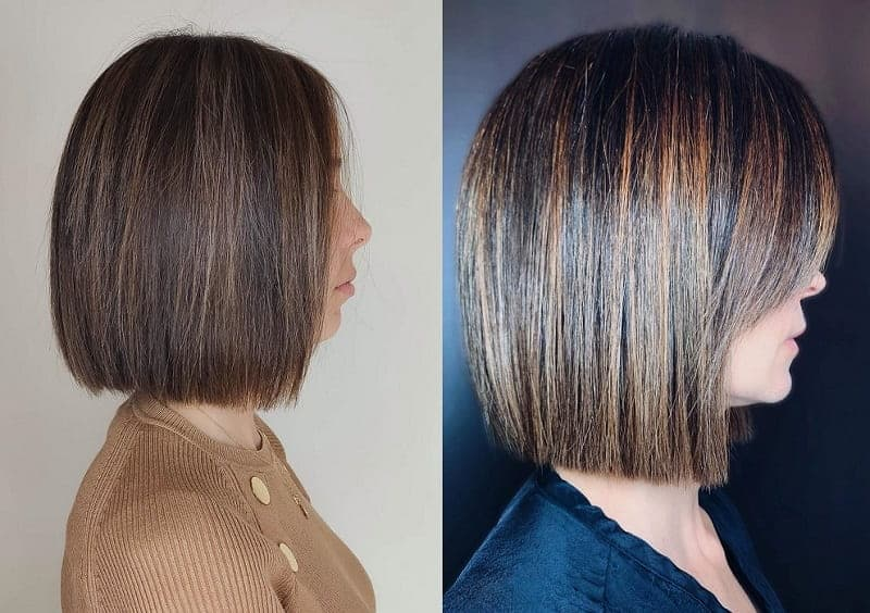 blunt bob with highlights