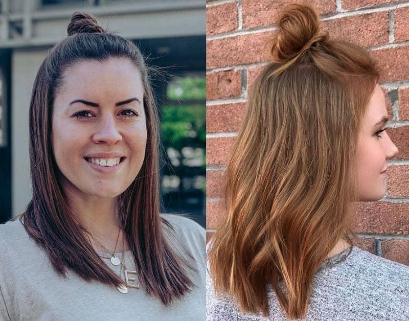 half updo for medium hair