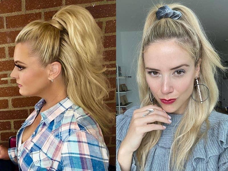 half updo ponytail