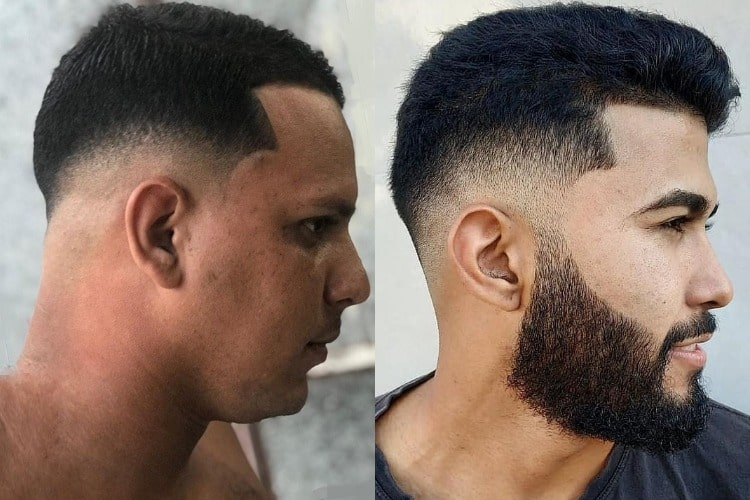 low fade on short hair