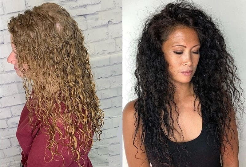 perms for long thin hair