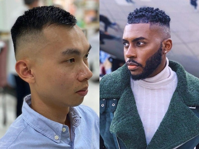 short hair with high fade